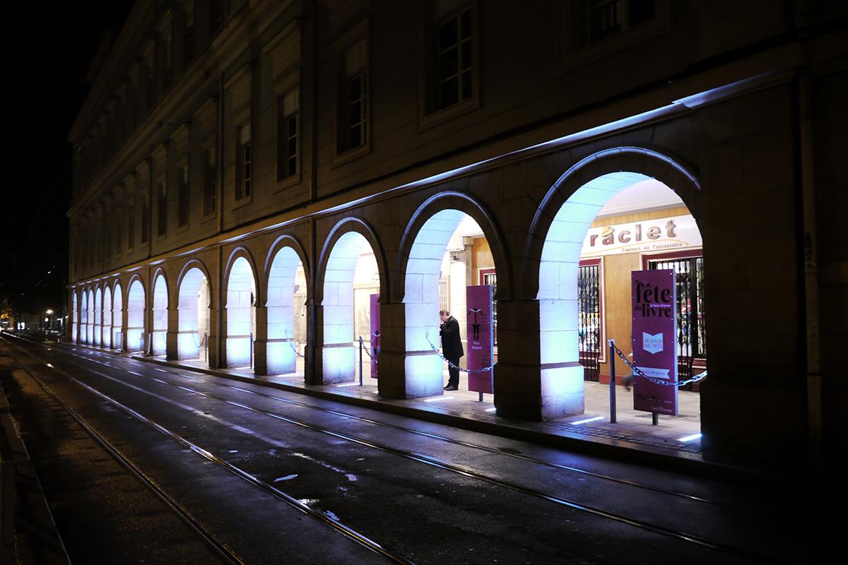 Victor vieillard mise en lumi re des arcades de l h tel - Luminaire st etienne ...