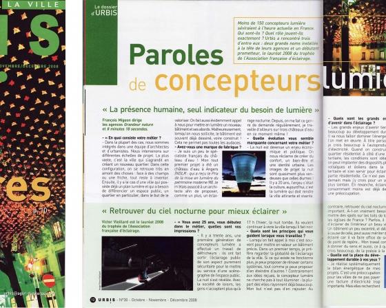 Urbis magazine - Parole de Concepteurs - 2008