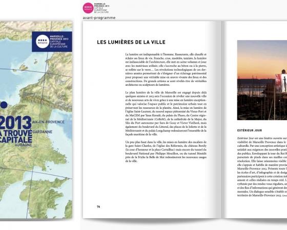 Livret Ouverture - Marseille 2013 Capitale de la Culture