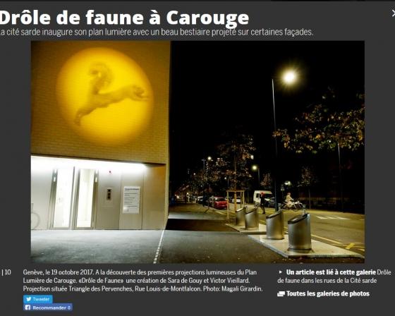 Site internet Tribune de Genève - 2017